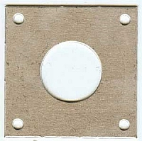 10 stk metallplate til meisefuglekasse