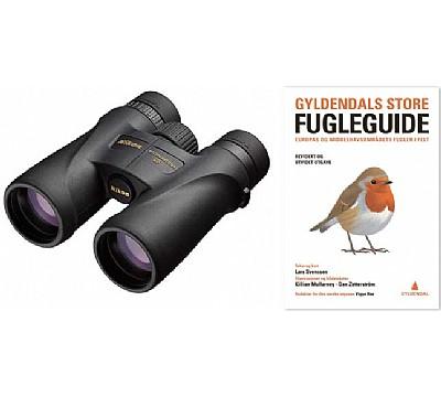 Nikon Monarch 5 8x42 med Gyldendals store fugleguide