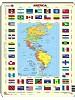 Puslespill - Amerikakart m/flagg