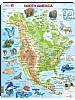 Puslespill - Nord-Amerika, kart med dyr